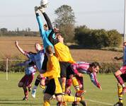 Fakenham keeper under pressure