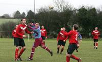 Didwell against a much taller defender