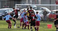Goalmouth action, this time in Hempnall's goal