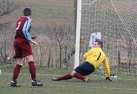 Mottram saves with his feet