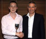 Ben Ling receiving the Club Young Player of the Ye