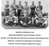 1951/2 Depwade and District League Winners.