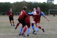 Another melee in the Cromer defence as Hempnall tr